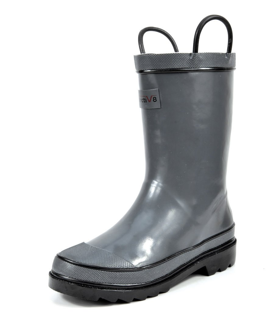 arctiv8 Little Kid Harley Grey Gross Ruber Ankle Rain Boots - 13 M US Little Kid