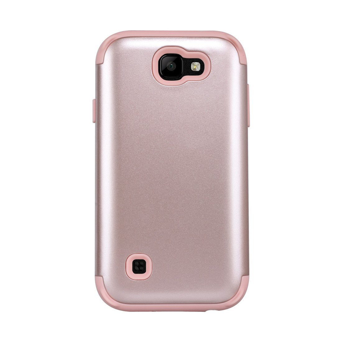 LG K3 2017 Case, Love Sound Dual Layer [Hard PC+ Soft Silicone] Hybrid Heavy Duty Shockproof Full-Body Protective Case Cover for LG K3 (Release in 2017) - Rose Gold by Love Sound (Image #1)