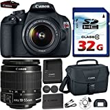 Canon EOS Rebel T5 DSLR 18mp + EF-S 18-55mm IS Bundle (8 items)