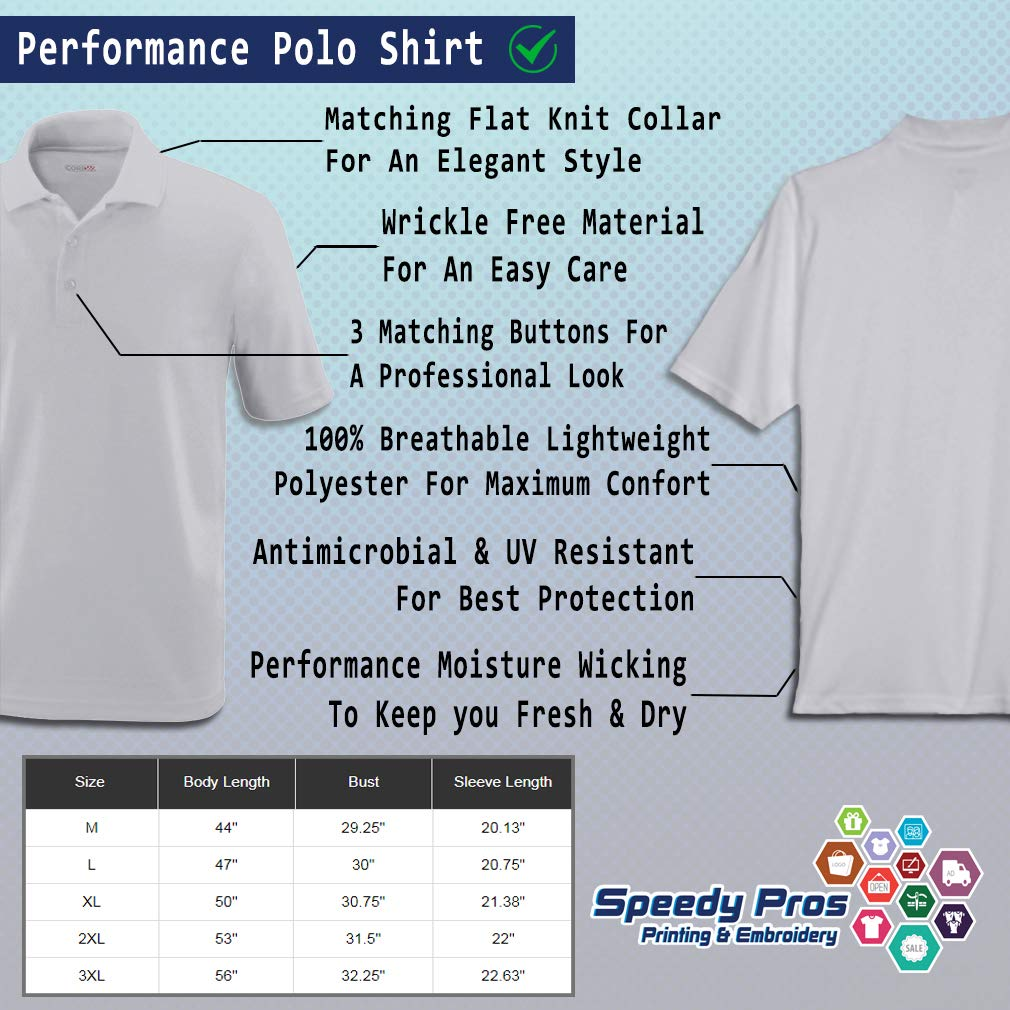Custom Polo Performance Shirt Billards Pool Solids Ball 6 Embroidery Design