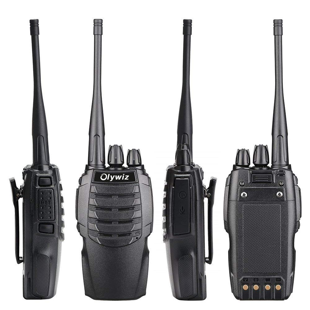 Walkie Talkies Two-Way Radio 4PCS-Olywiz Handheld Radio 3 Miles Long Range 1800mAh Rechargeable Li-ion Battery UHF 400-470Mhz HTD-826 Portable Ham 2 Way Radio for Climbing Hunting/&Outdoor HTD-826 4PCS Walkie Talkies