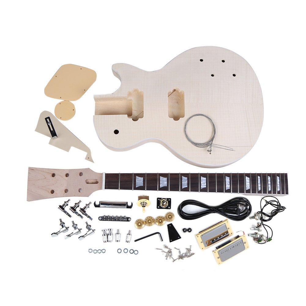 Andoer® Estilo LP Guitarra Eléctrica DIY kit Cuerpo de Caoba: Amazon.es: Electrónica