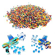 20000Pcs Mixing Color Soft Crystal Bullet Water Beads Pearls Jelly Gels Mud Gun Paintbal Gun Toy Soil Ball Air Pisol Gun Toy for Boys