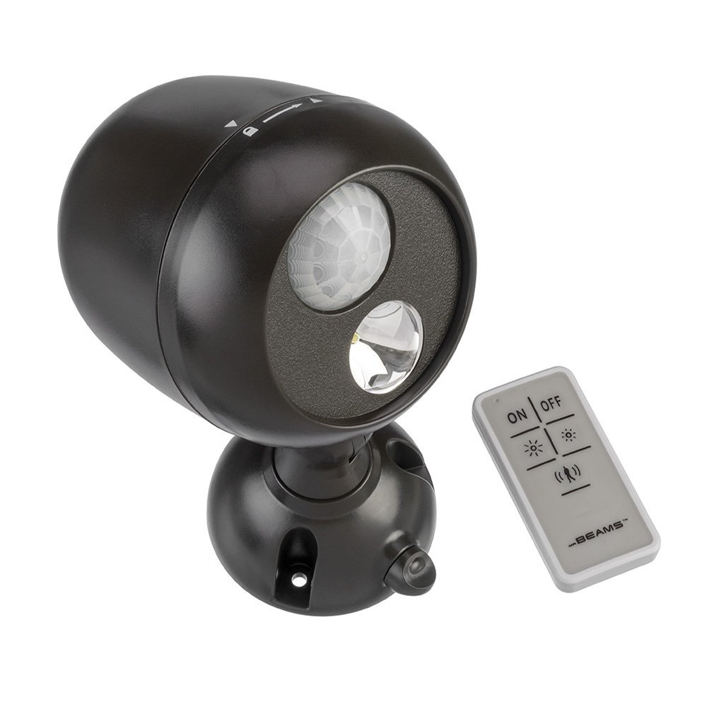 Mr. Beams MB371 Remote Controlled Battery-Powered Motion-Sensing LED Outdoor Security Spotlight by Mr. Beams