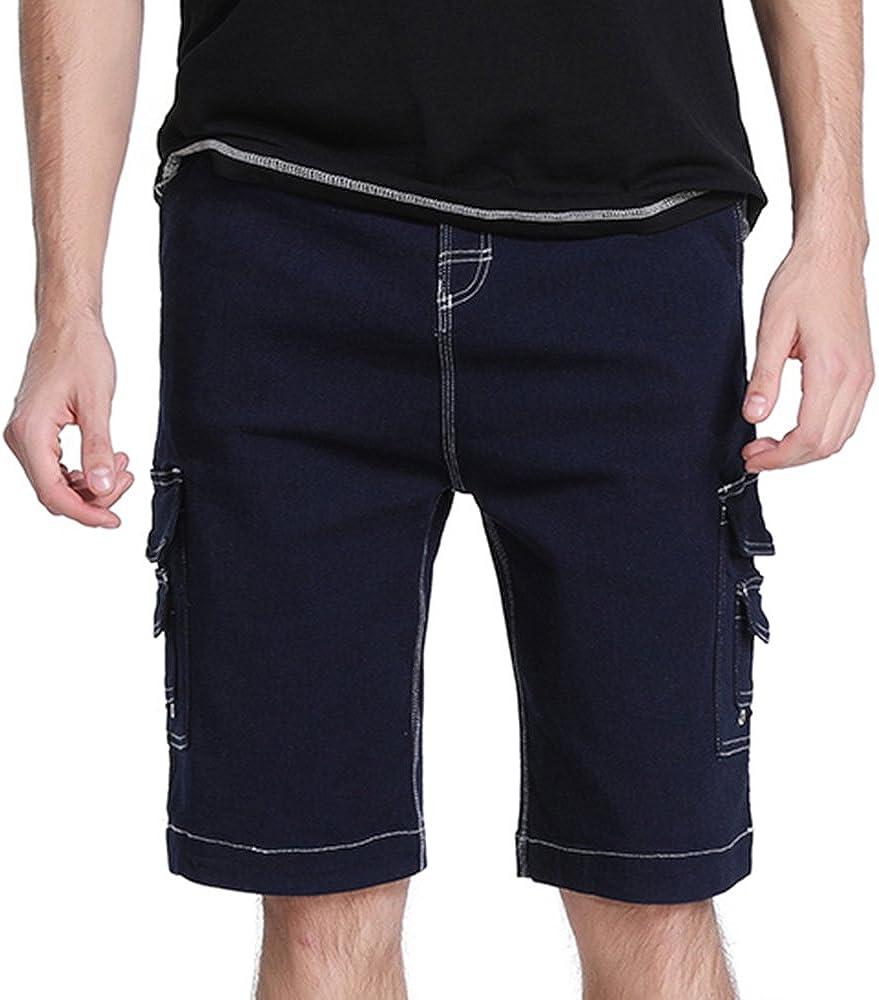 Vertvie Pantalones Cortos Cargo de Trabajo Pantalones Deportivos Multi Bolsillos para Hombre Cómodo de Moda Pantalón Casual Verano