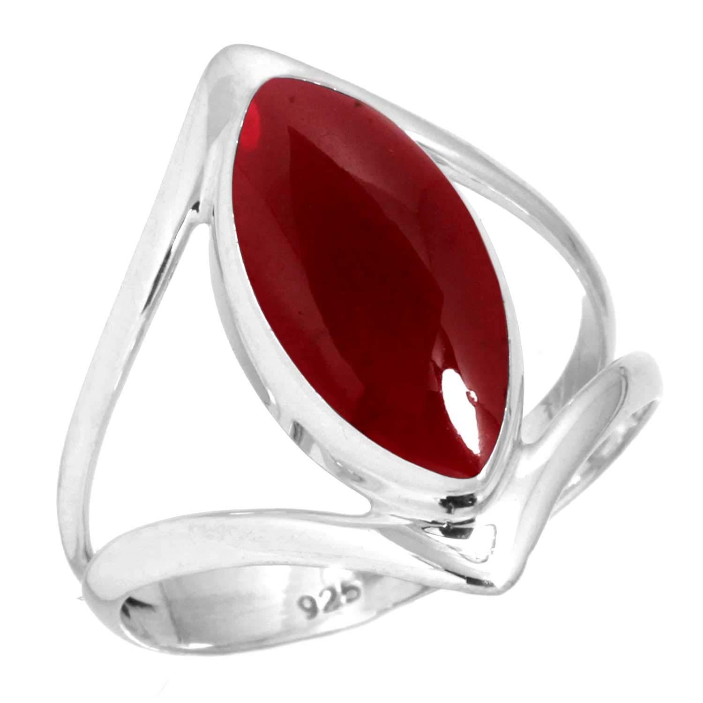 Jeweloporium Solide 925 Sterling Silver Pierre gemme /À la Main Bague for Femmes