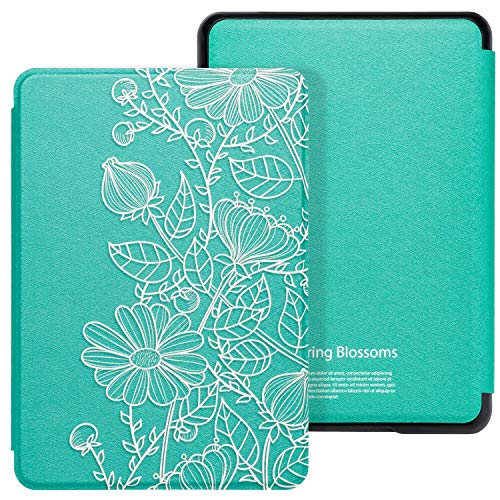 WALNEW Case Fits Kindle Paperwhite 10th Generation 2018 Protective Slim PU Leather Case Smart Auto Wake/Sleep Cover Compatible Kindle Paperwhite 10th Gen 2018 Released (A-Mandala)