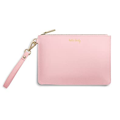 22fc85f7a5e Secret Message Pale Pink Pouch Bag by Katie Loxton. FREE giftwrap. Gift for  her: Amazon.co.uk: Shoes & Bags
