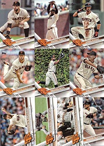 (2017 Topps Series 1 San Francisco Giants Baseball Card Team Set - 10 Card Set - Includes Brandon Belt, Brandon Crawford, Angel Pagan, Madison Bumgarner, Johnny Cueto, and more!)