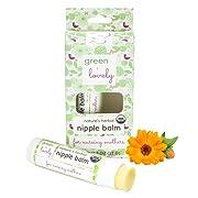 Nature's Herbal Nipple Balm, Calming Nursing Ointment, Breastfeeding Cream, Certified Organic. Easy Application, 2 x 0.5 oz Sticks. Silky & Calendula Infused.