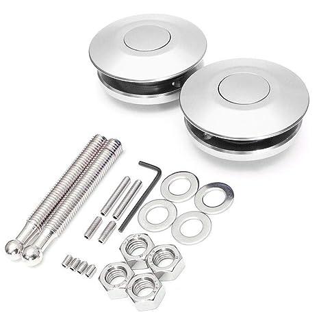 Exterior Parts Bumpers Car Quick Release Hood Bumper Bonnet Pin Lock Clip Kit Aluminum Push Button 2 Pieces One Pair