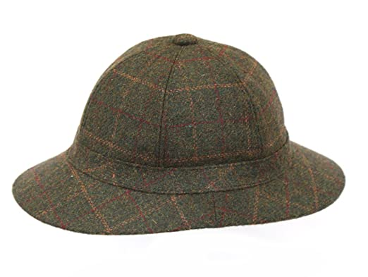 Men s Green Tweed Check Country Sherlock Deerstalker Hat GR80 ... 254462ba90d