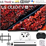 "LG OLED65C9PUA 65"" C9 4K HDR Smart OLED TV w/AI ThinQ (2019) w/Xbox Bundle Includes, Microsoft Xbox One S 1TB, Flat Wall Mount Kit Ultimate Bundle for 45-90 inch TVs and More"