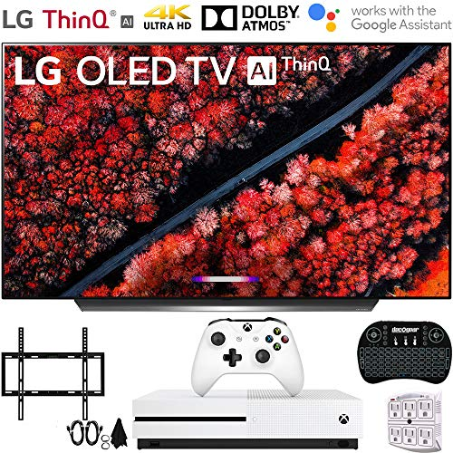 LG OLED65C9PUA 65″ C9 4K HDR Smart OLED TV w/AI ThinQ (2019) w/Xbox Bundle Includes, Microsoft Xbox One S 1TB, Flat Wall Mount Kit Ultimate Bundle for 45-90 inch TVs and More