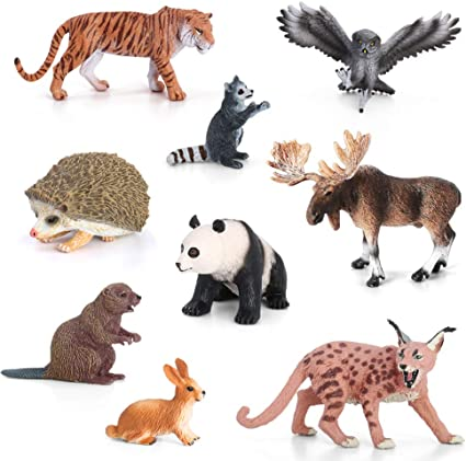Wildlife Jungle Animal Model Plastic Figures Kids Toy Home Decoration Xmas Gifts