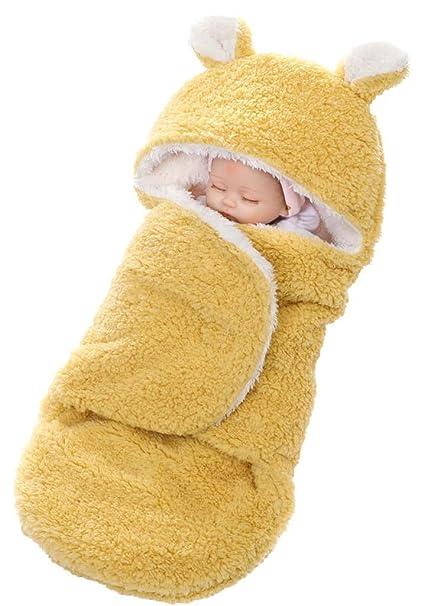Foucome - Saco de Dormir - para bebé niña Amarillo Amarillo Talla única: Amazon.es: Ropa y accesorios