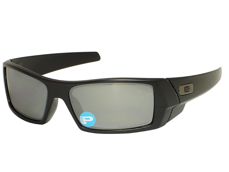 b40d60913a8 Oakley Gascan OO12-856 Matte Black   Black Iridium Polarized Sunglasses   Amazon.co.uk  Clothing