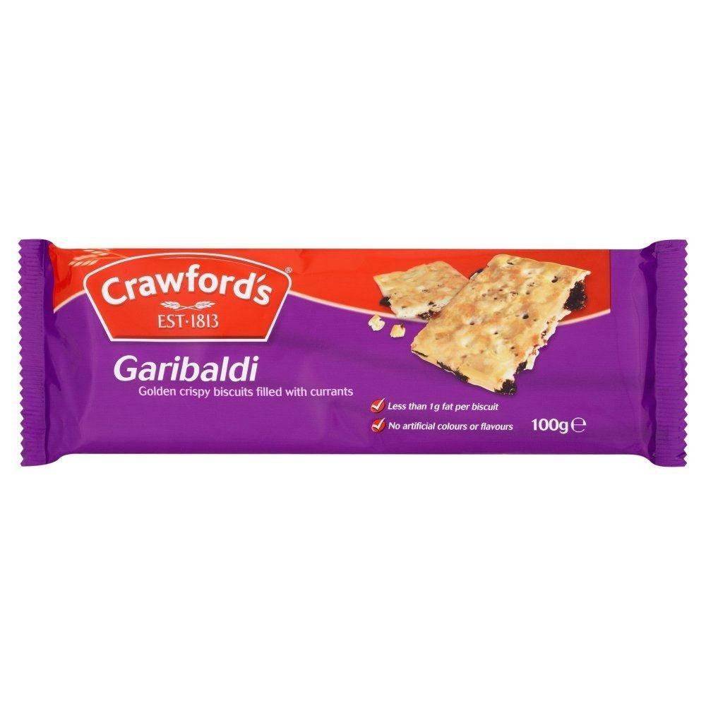 Crawfords Garibaldi - 100g - Pack of 8 (100g x 8) by Crawfords