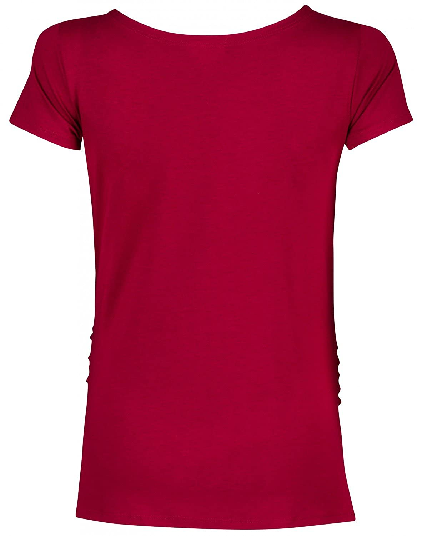 Happy Mama. Para Mujer Camiseta premamá T-Shirt estampado pies manos bebé. 013p: Amazon.es: Ropa y accesorios