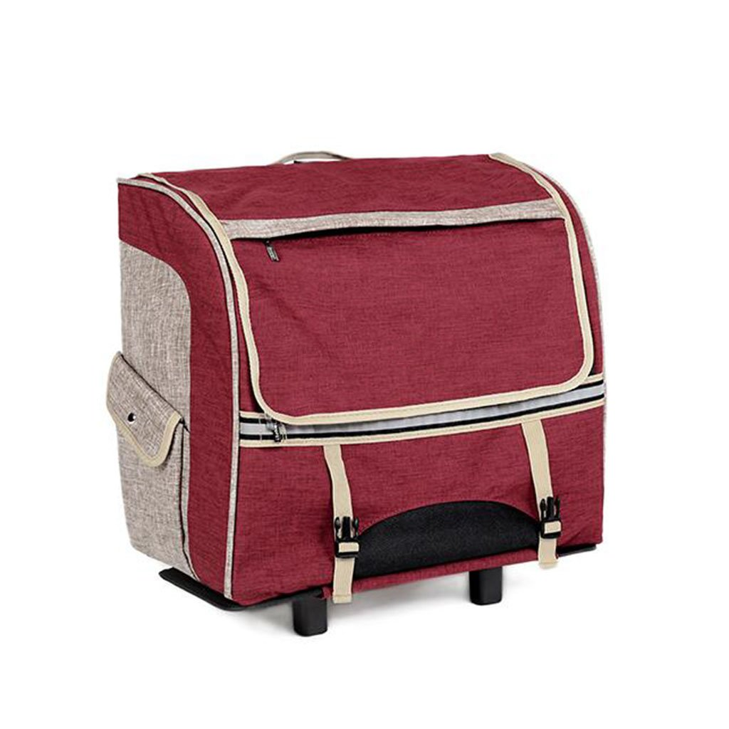 WX-WX48 WW-XX Portatile Borsa per Animali Domestici Scatola per Animali Domestici Esaurito Borsa A Tracolla Doppia Portatile Cat Pack Dog Backpack Lusso (colore   Red)