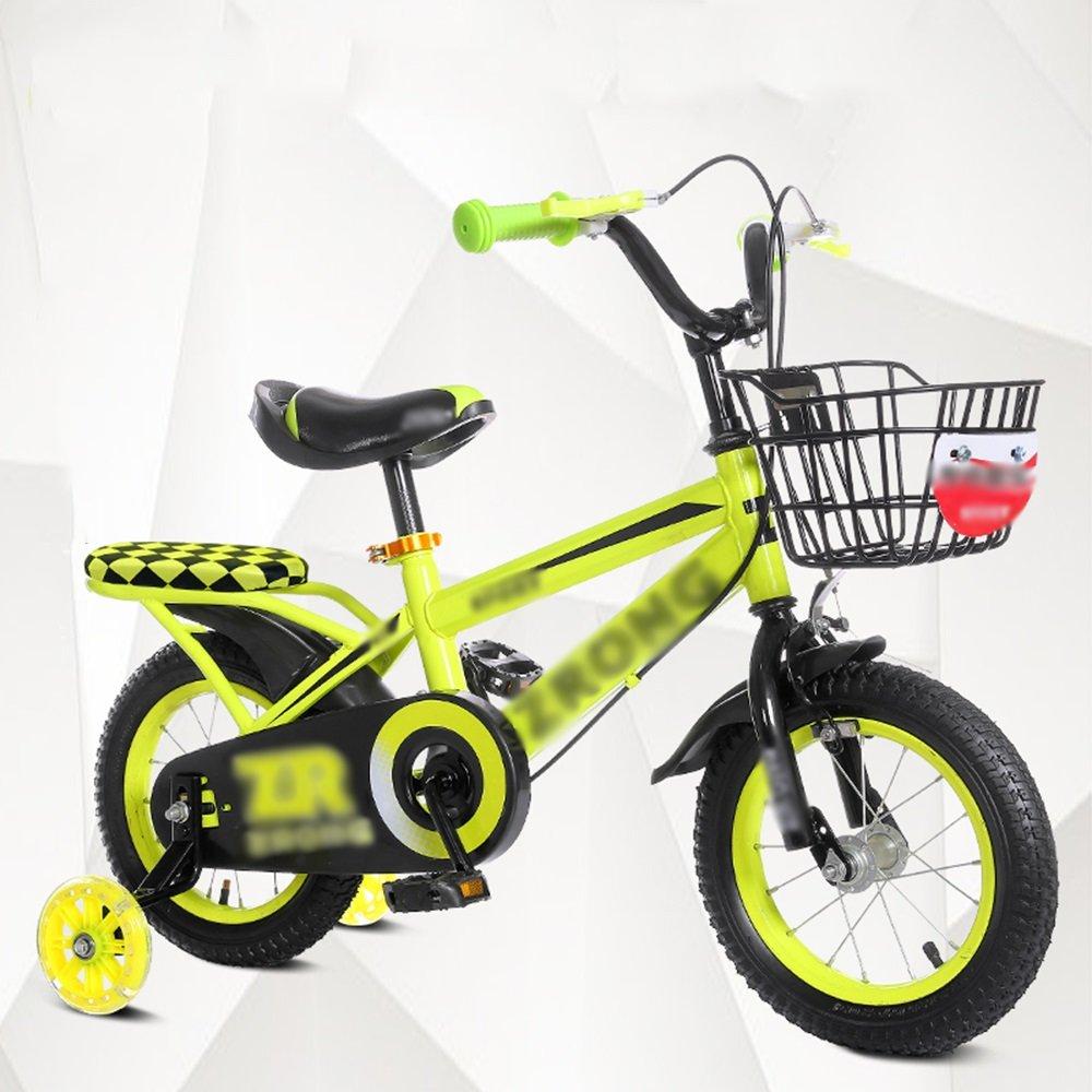 HAIZHEN マウンテンバイク キッズバイク、サイズ12インチオプション、14インチ、16インチ、18インチレッドブルーイエロー安全で信頼性の高い 新生児 B07C6V84BB 16 inches|イエロー いえろ゜ イエロー いえろ゜ 16 inches