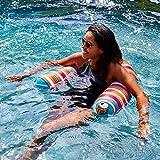Big Joe 2045866 Noodle Sling Paradise Pink Cozumel Stripe with Aqua seat, One Size,