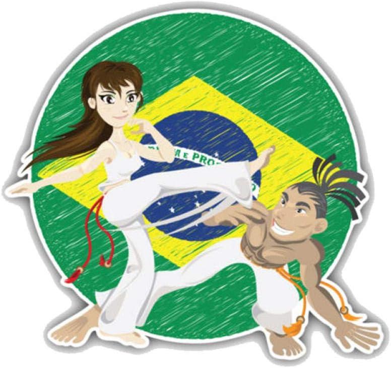 Etiqueta engomada del coche de HQSM 13CMx11.9CM del arte marcial brasileño de la motocicleta del PVC etiqueta engomada