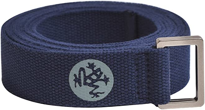 Manduka Unfold Yoga Strap – Strong, Durable Cotton Webbing with Adjustable Buckle for Secure, Slip-Free Support for Stretching, Yoga, Pilates and ...