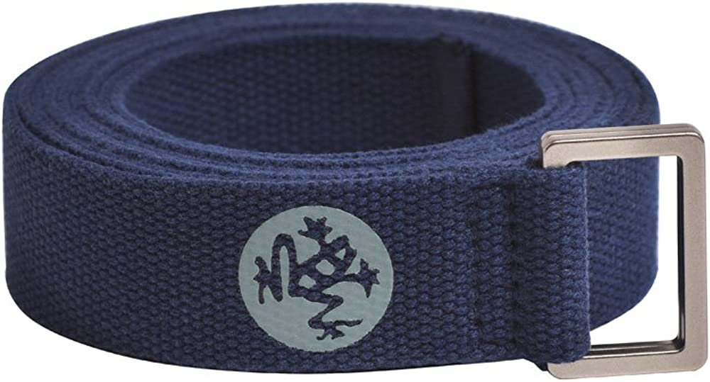 Manduka Unfold Yoga Strap – Strong, Durable Cotton Webbing with Adjustable Buckle for Secure, Slip-Free Support for Stretching, Yoga, Pilates and General Fitness.