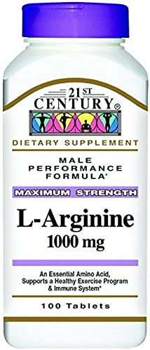 21st Century L-Arginine 1000mg, Maximum Strength 100 ea Pack of 2