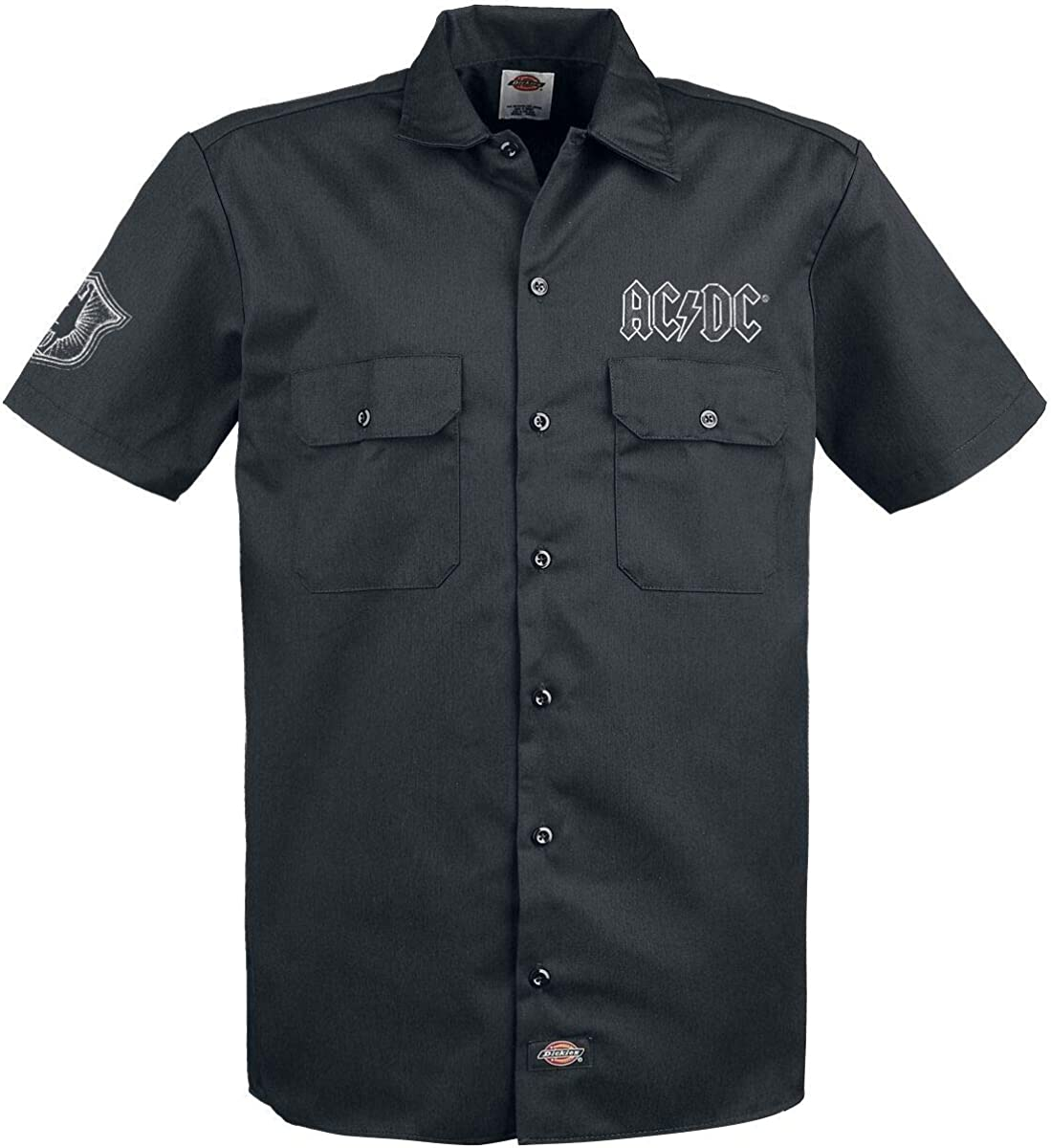 AC/DC Let There Be Rock, Dickies Workerhemd Hombre Camisa Manga Corta Negro, Regular: Amazon.es: Ropa y accesorios