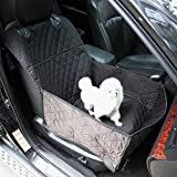 GEMEK Dog Booster Car Seat by Devoted Doggy - Front Car Seat Covers - Pet Front Seat Cover - Waterproof Nonslip Backing Scratch Proof, Durable Machine Washable (Black - Front Seat Cover)