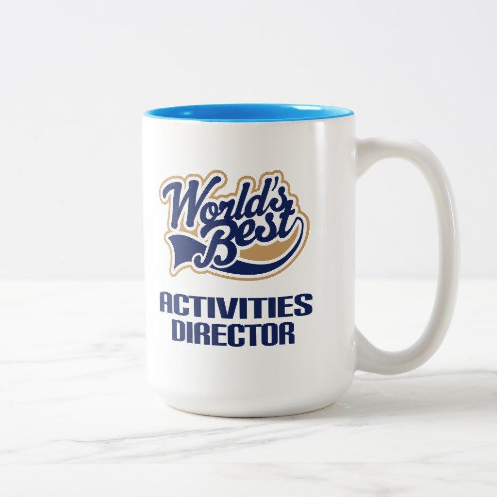 Zazzle活動Directorギフト( Worlds Best ) Travel Mug 15 oz, Two-Tone Mug ブルー 2a22b88b-70a8-efb7-ae18-a9abafa3016f B0789VCH56  ライトブルー 15 oz, Two-Tone Mug