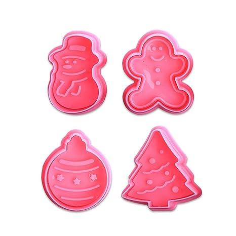 Oumosi - Molde de plástico para Galletas de la Serie Christmas