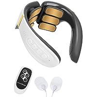 Komake Nekmassageapparaat, intelligente draagbare nekmassage met verwarmende elektrische pulsmachine voor cervicale…