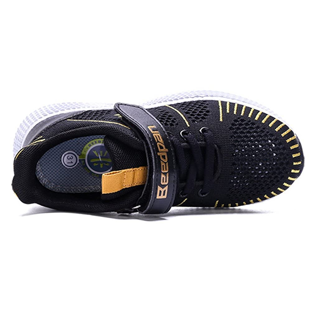 LGXH Breathable Big Boy Running Shoes Mesh Anti-Slip Youth Kids Sports Sneakers Athletic Shoes