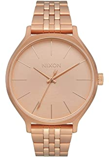 Nixon Clique Womens Fashion-Forward Jewelry-Style Watch (38mm. Stainless Steel Band