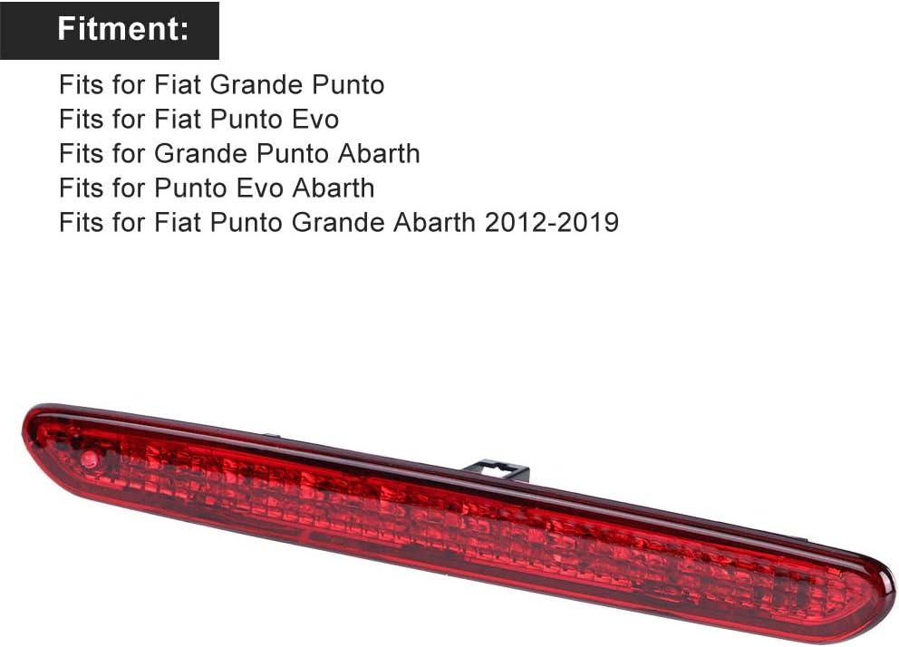 Terza luce del freno terza luce del freno montata in alto 51722247 Adatto per Fiat Punto Grande Abarth 2012-2019
