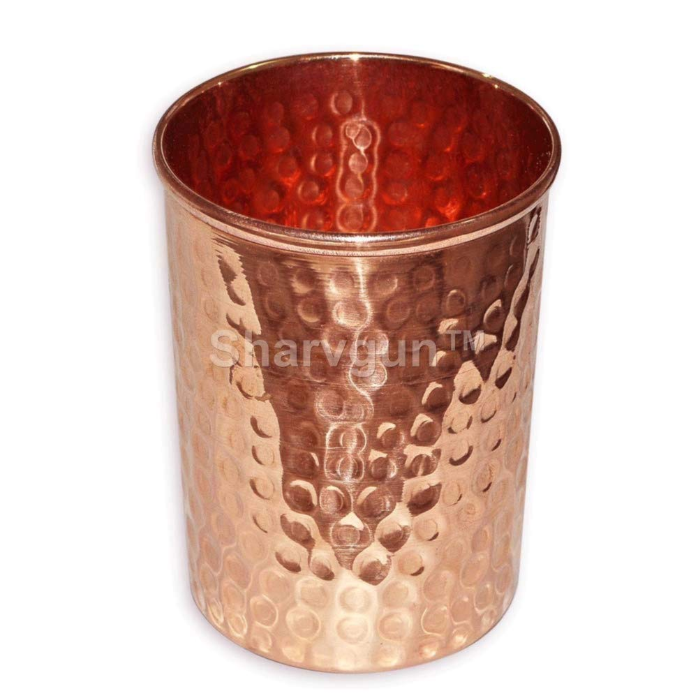 100/% reines Kupfer geh/ämmert handgefertigt Sharvgun Becher aus Kupfer Moscow Mule Tumbler