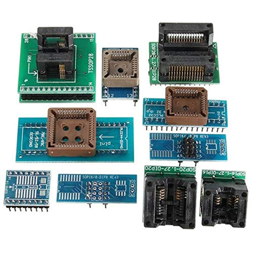 unterst/ützt einen Computer mit 4 Programmierern gleichzeitig TL866II Plus Programmierset mit 10 Adapter USB Minipro Kunststoff