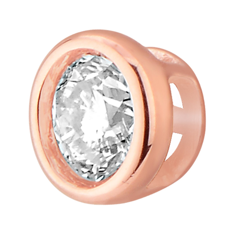 14k Gold Round Diamond Solitaire Pendant Necklace Bezel Set Women (0.33cttw, IJ / I2-I3) 18'' by EternalDia (Image #2)