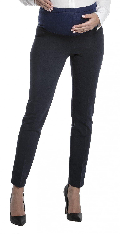 Zeta Ville - Womens Maternity Smart Pants Tailored Work Long Trousers - 206c maternity_pants_206