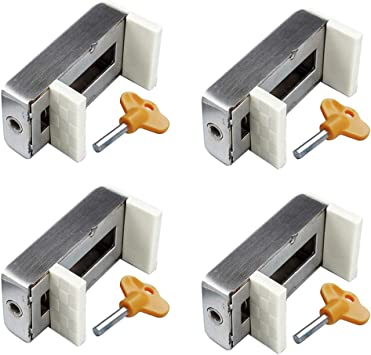 with Keys for Sliding Window Home Window Lock Stopper Sliding Window Lock 10 Set Safety Lock Door Frame Lock