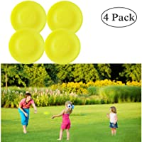 Mini Pocket Frisbee, Flexible Flying Disks Disc, Outdoor Sports Kindergarten Park Toy Interactive Catching Game Toy for Kids Adults 4 Pack