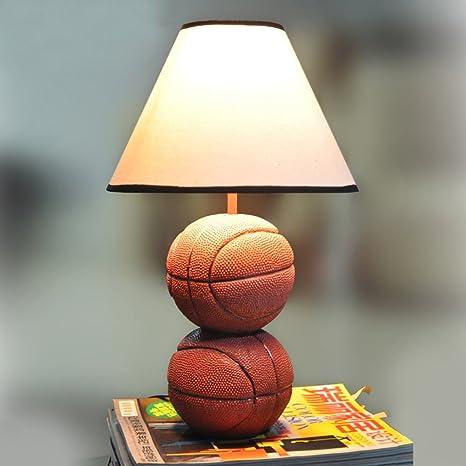 Decorativo Basketball lámpara de mesa, personalidad lámparas ...