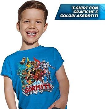 Giochi Preziosi Gormiti T Shirt Taglia 3//4 Anni Colori Assortiti