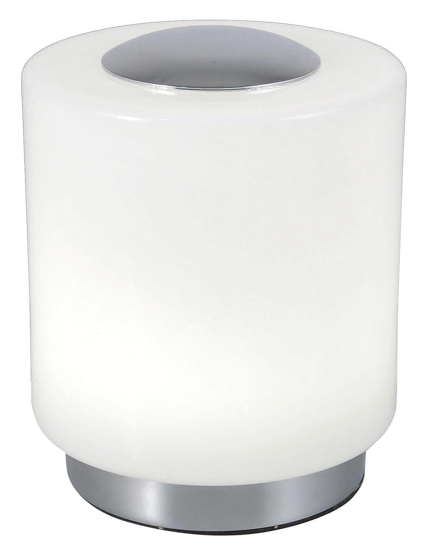 FABAS Tischleuchte inklusive eingebauten 8 W LED, EEK A+, Durchmesser 14 x 10 cm, chrom   weiß 3257-30-138