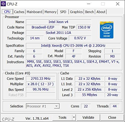 Intel CM8066002022506 Xeon E5-2699 v4 22-Core/44-Thread 55MB Cache 2.20GHz LGA2011 by Intel (Image #4)