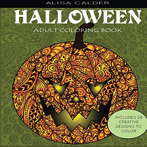 Adult Coloring Books: Halloween Designs -