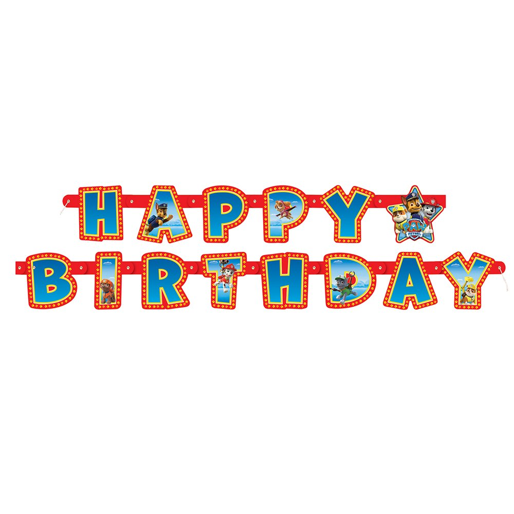 6ft PAW Patrol Birthday Banner Counting
